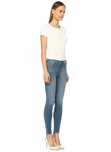 Frame Denim Normal Bel Skinny Jean Pantolon Mavi